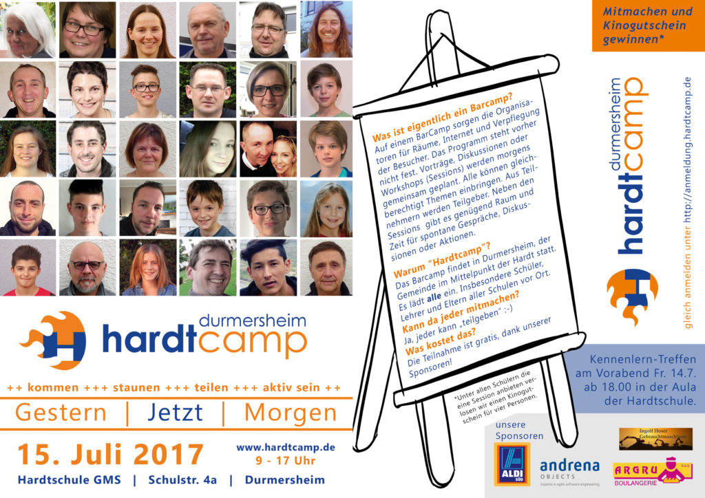 DIN A4 Flyer Hardtcamp 2017